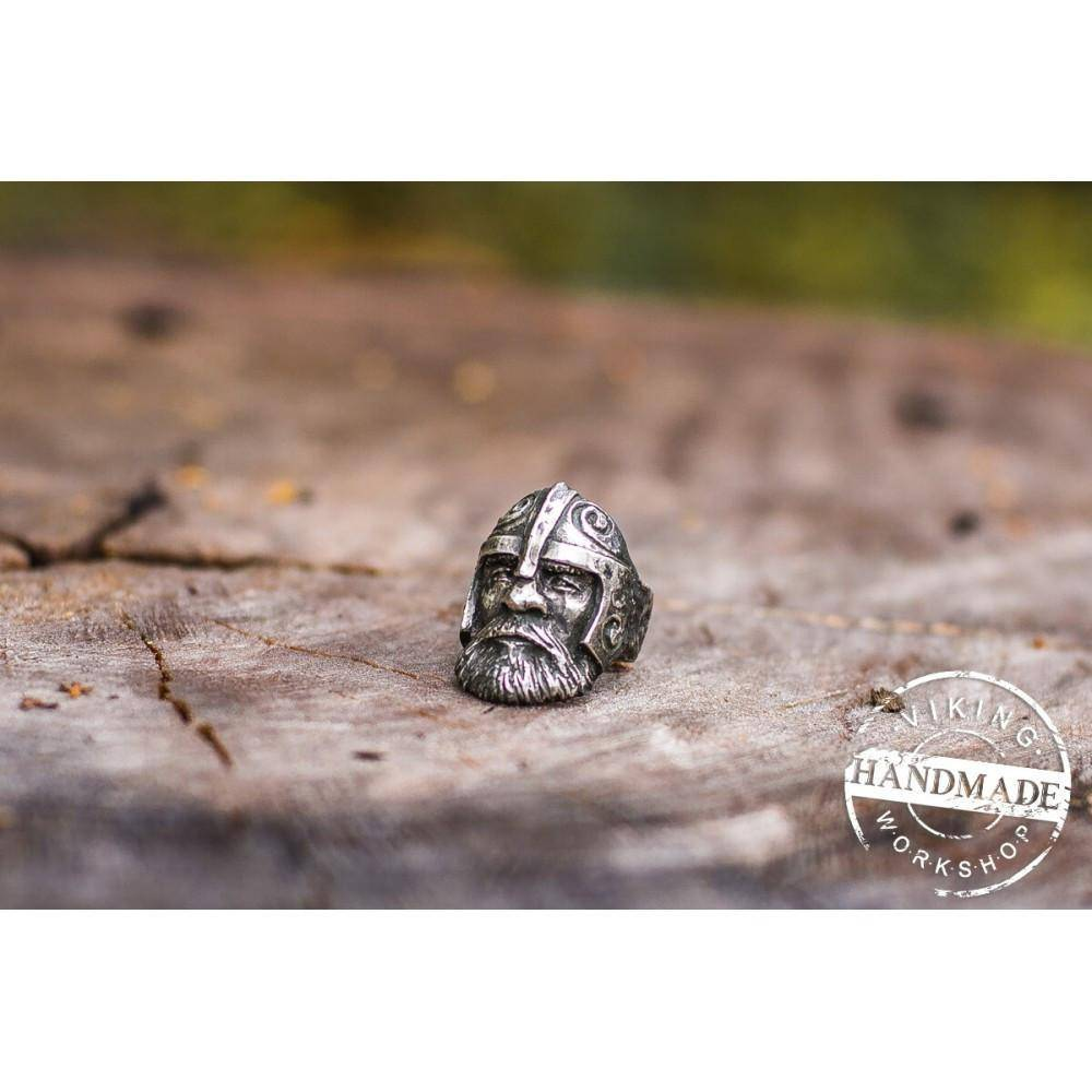 Sterling Silver Viking Ring - Odin Ring - Norse Jewelry