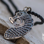 The Head of Drakkar Boat 925 Sterling Silver Pendant - VikingsBrand