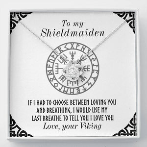 To My Shieldmaiden Love Knot Gift Necklace
