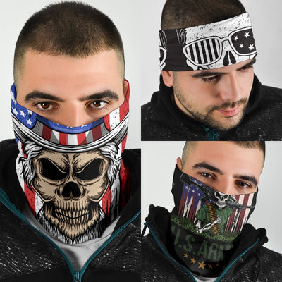 US Patriotic Skull Neck Gaiter | Face Shield
