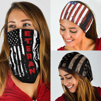 US Veteran Flag Neck Gaiter | Face Shield