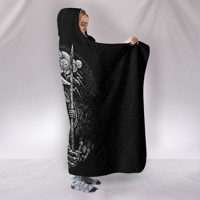 Viking God Odin Hooded Blanket - VikingsBrand