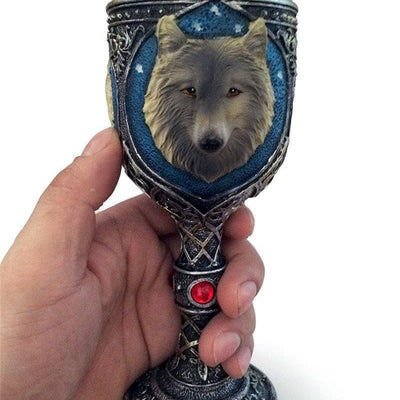 Viking King Wolf Head Cup - Mug - VikingsBrand