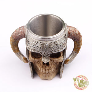 Viking Mug with Goat Horns - VikingsBrand