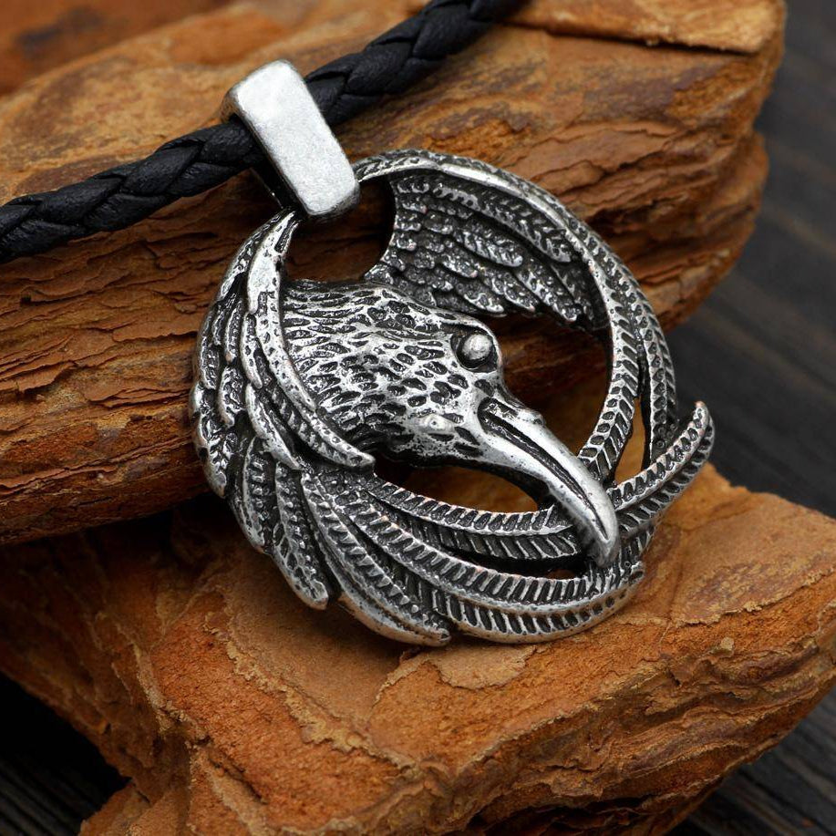 Viking Norse Ravens Necklace - Huginn and Muninn - VikingsBrand