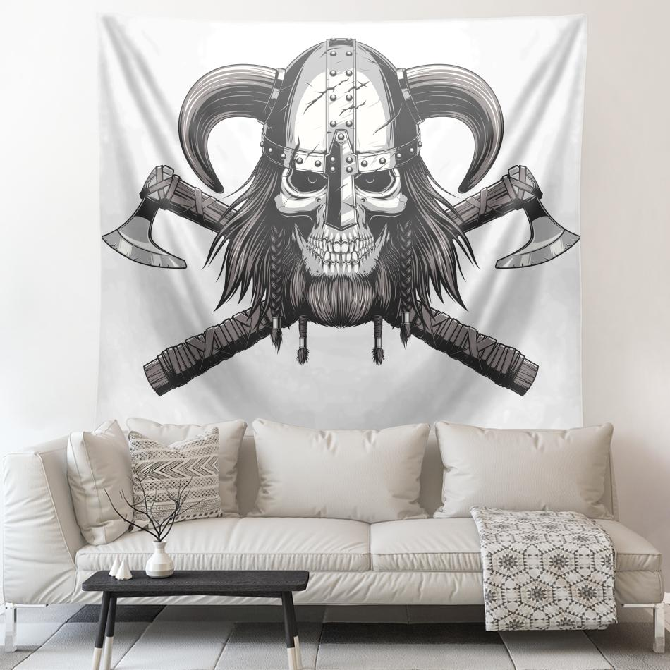 Viking Skull Warrior Tapestry - VikingsBrand