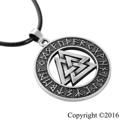 Viking Valknut Rune Necklace - VikingsBrand