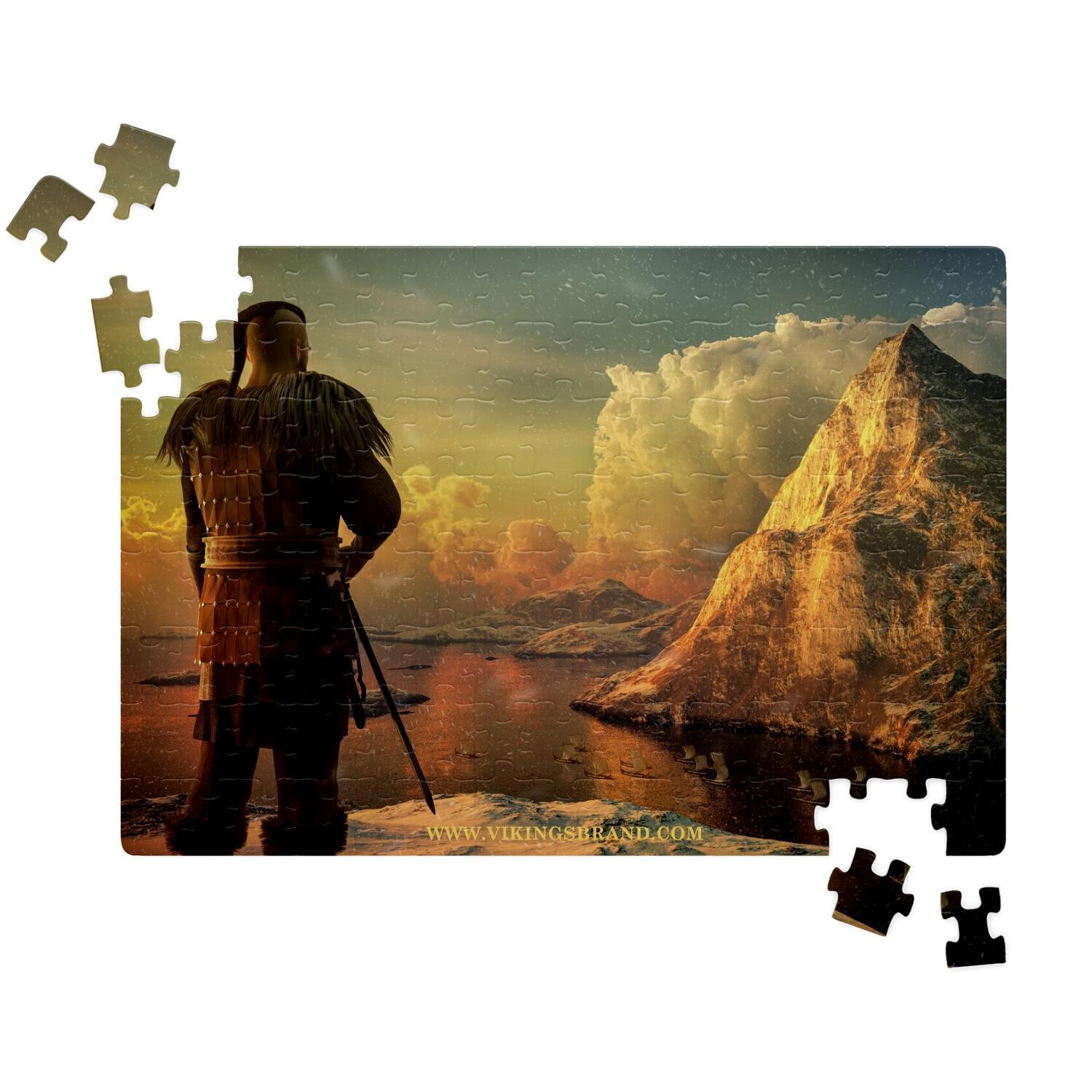 Viking Warrior on the High Cliff Jigsaw Puzzle