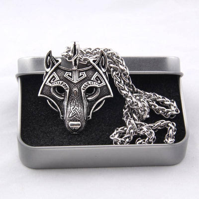 Viking Wolf Head Necklace Original - VikingsBrand