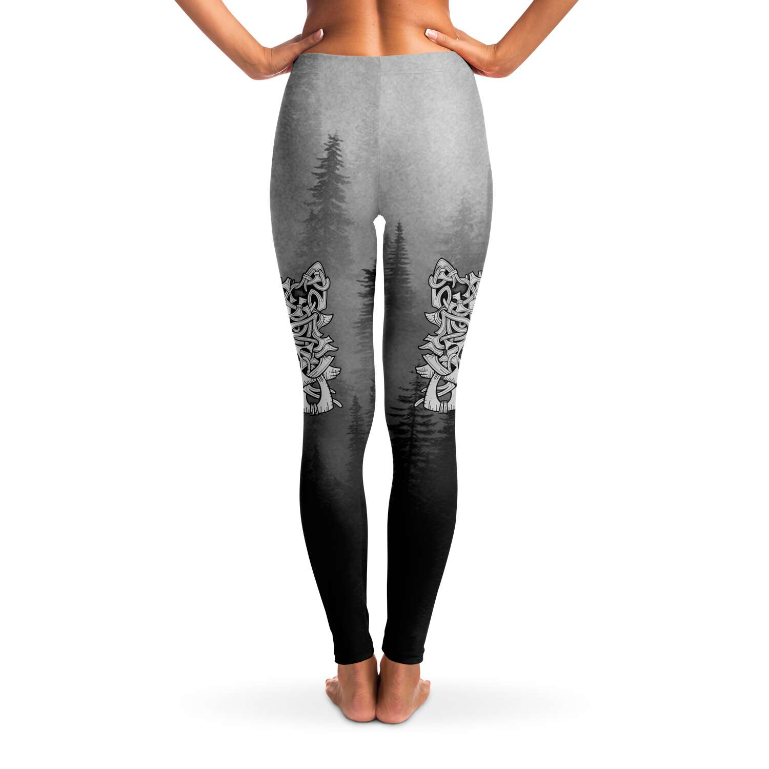 Wolf in Spruce Forest Leggings for Shieldmaiden