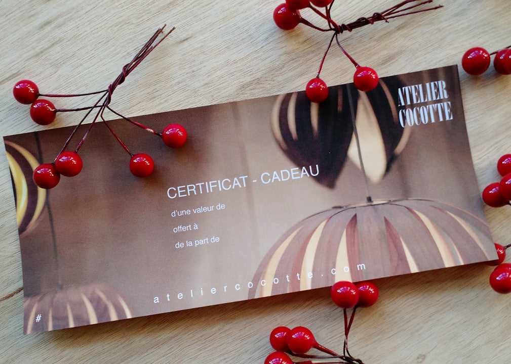 Gift Certificate now available for christmas!