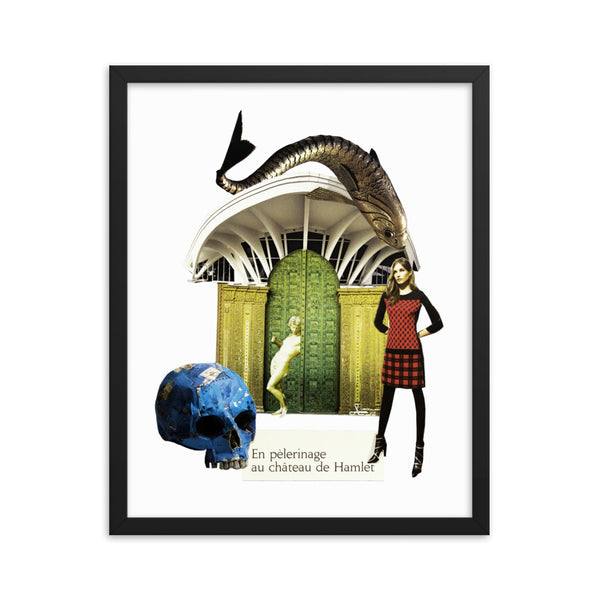 Au château de Hamlet : Framed photo paper poster