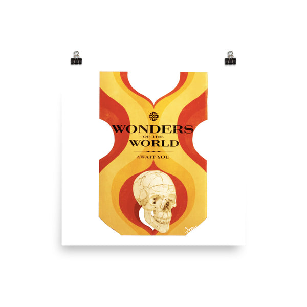 Wonders of the World : Photo paper poster