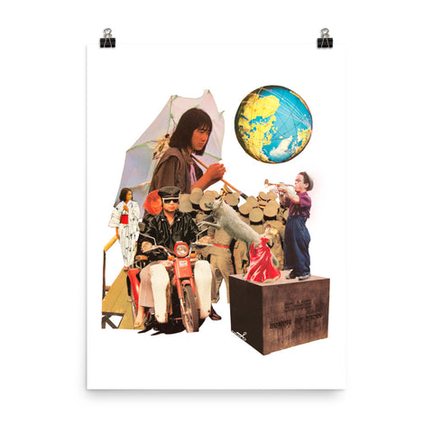 Around the World : Photo paper poster