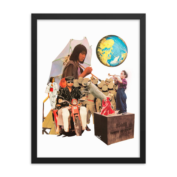 Around the World : Framed photo paper poster