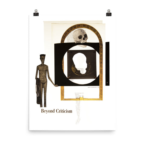 Beyond Criticism : Photo paper poster
