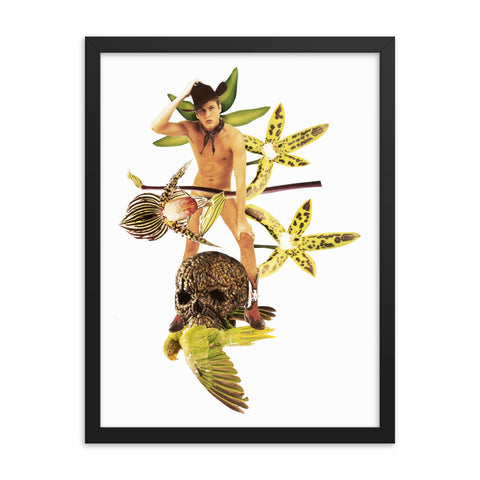 Cowboy's Vanitas : Framed photo paper poster