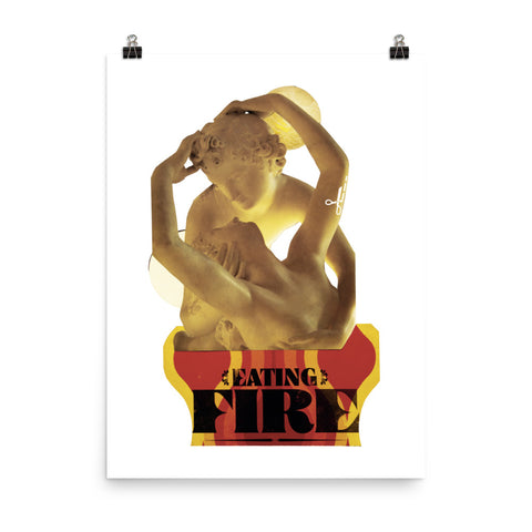 Eating Fire : Photo paper poster