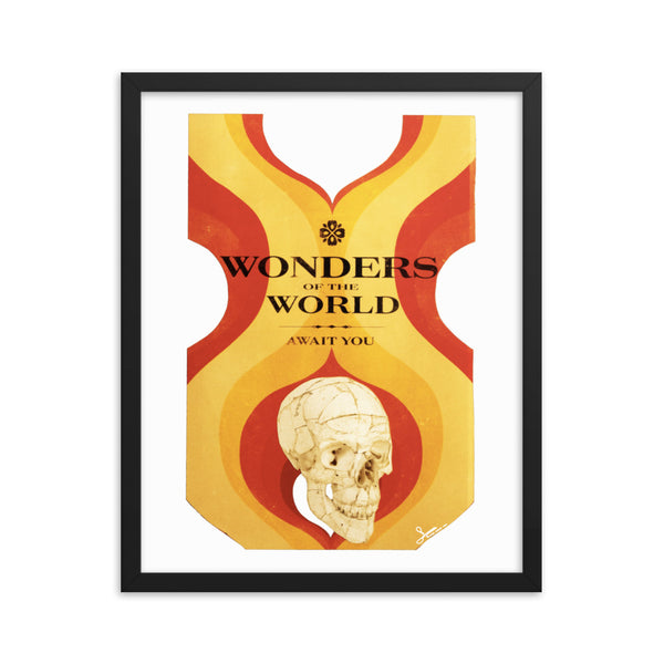Wonders of the World : Framed photo paper poster
