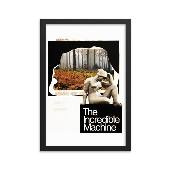 Incredible Machine : Framed photo paper poster