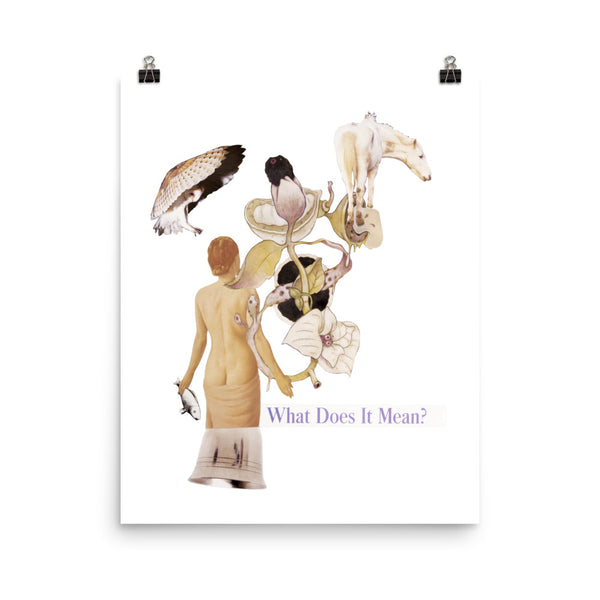 What does it Mean : Photo paper poster