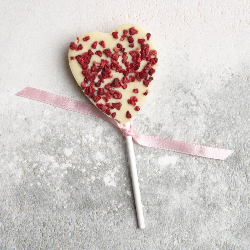 White Chocolate & Raspberry Lollipop