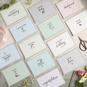 Full range of greeting cards