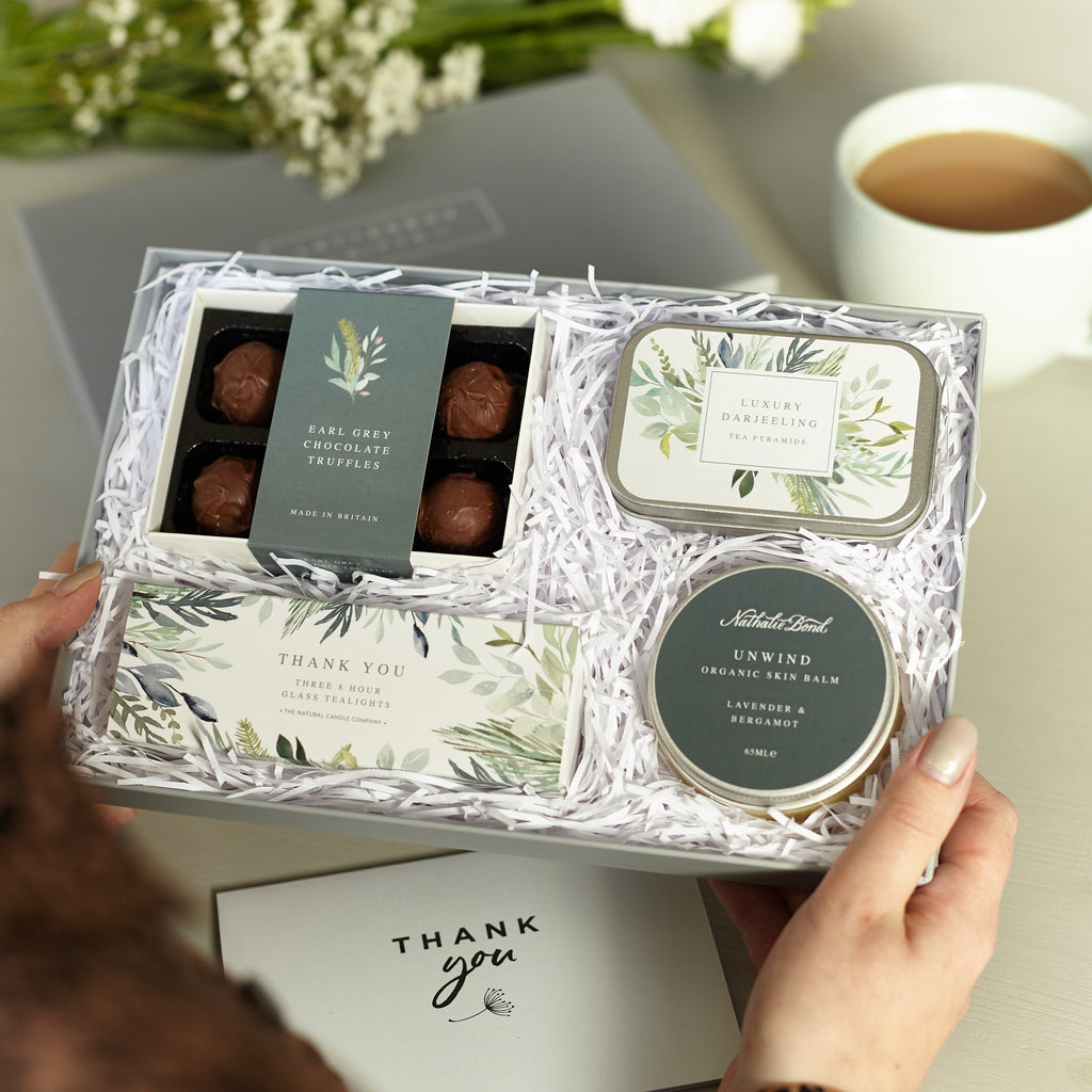 Receiving a 'Thank you' Letterbox Gift set