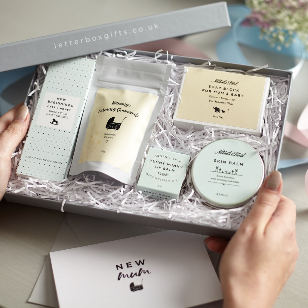 Receiving a 'New mum' Letterbox Gift set