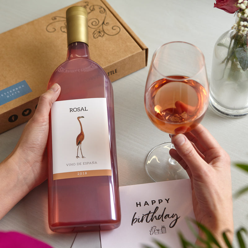 Receiving Letterbox Rose Wine gift