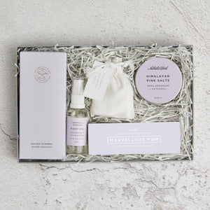 Mums Spa night in Letterbox Gift set contents