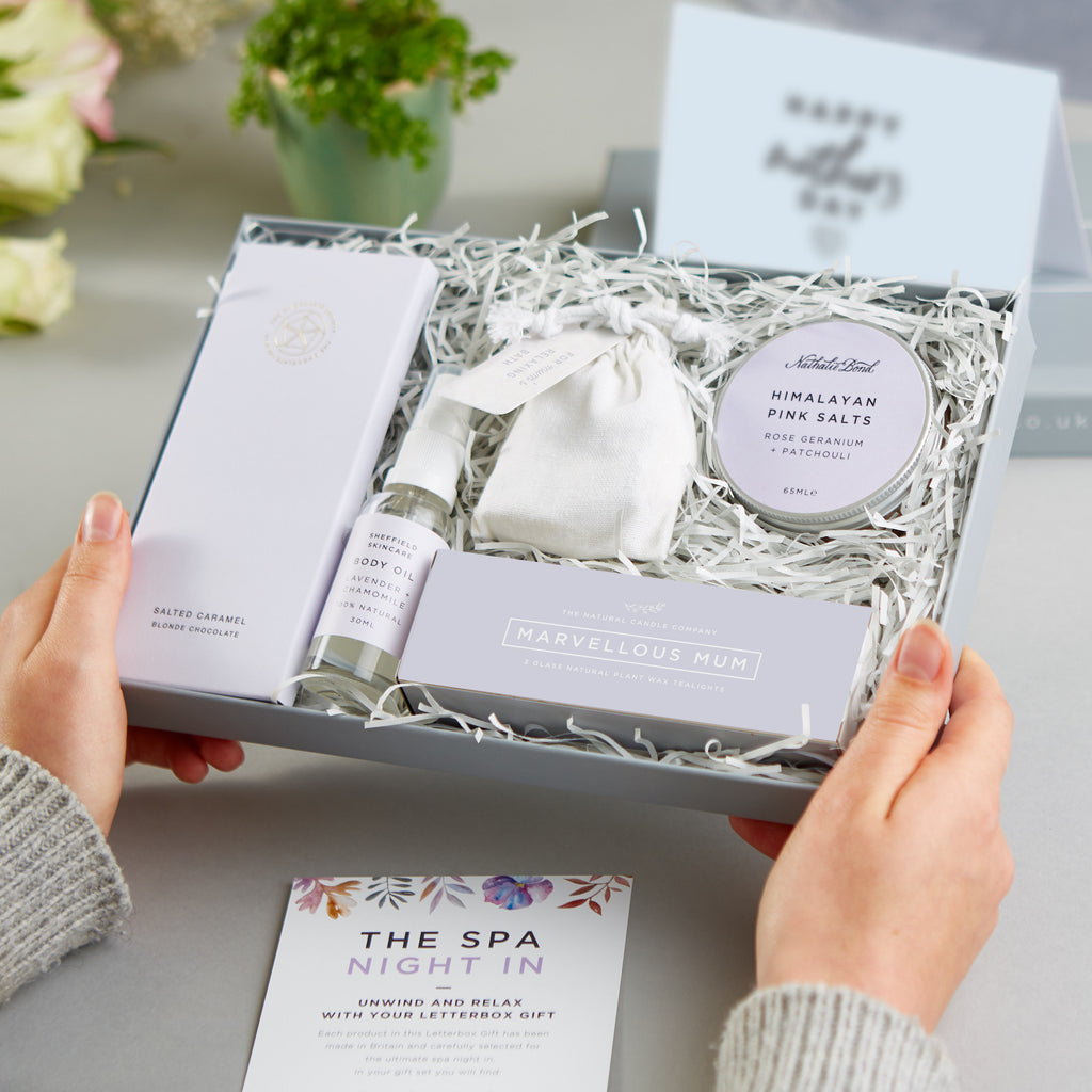 Receiving a 'Mum's spa night in' Letterbox Gift set
