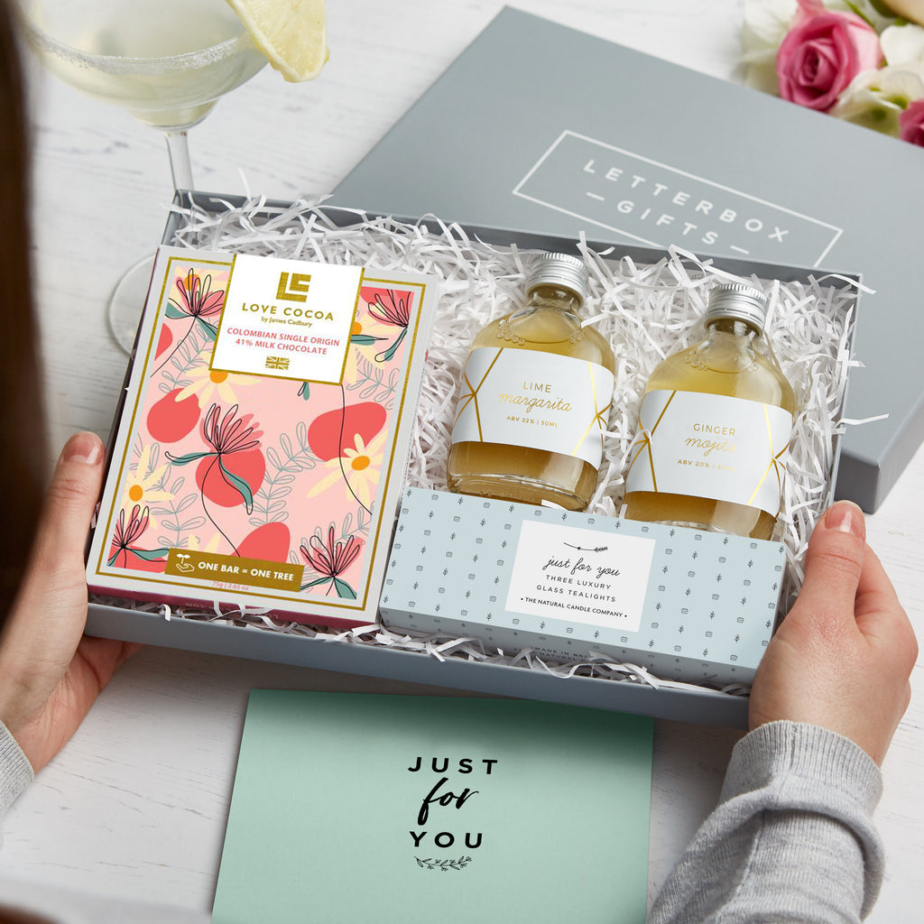 Receiving a 'Cocktail Night in' Letterbox Gift set