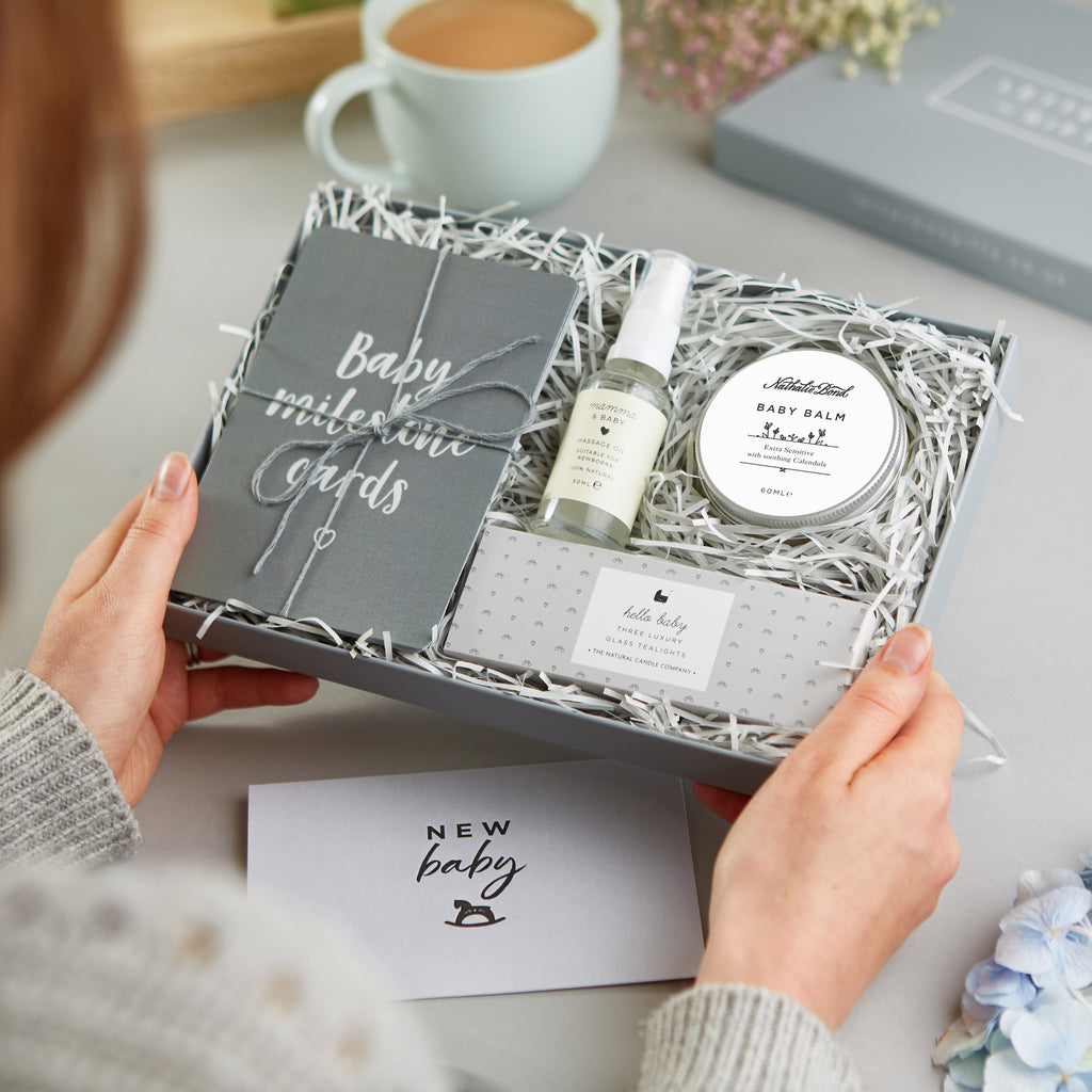 Receiving a 'New Baby' Letterbox Gift set