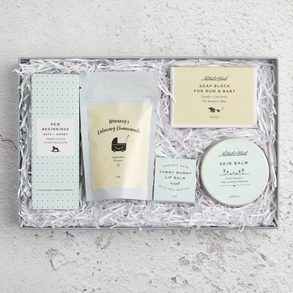 'New mum' Letterbox Gift set contents