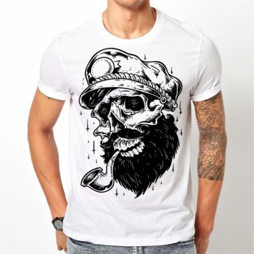 White Skull Sailor T-shirt