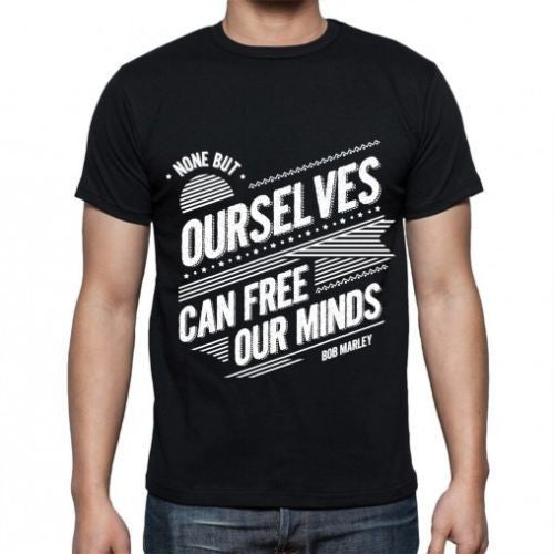 Black Free our minds T-shirt