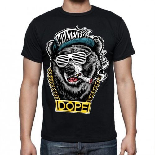 Black Hip Hop bear T-shirt