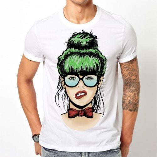 White Nerdy girl T-shirt