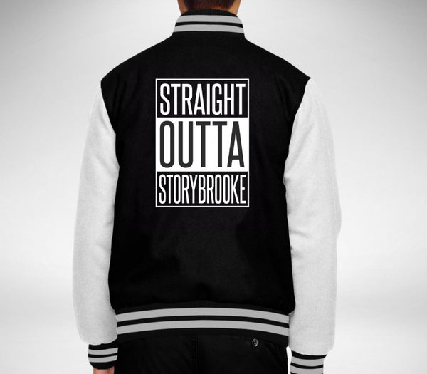 Custom Unisex Black/White Varsity Jacket