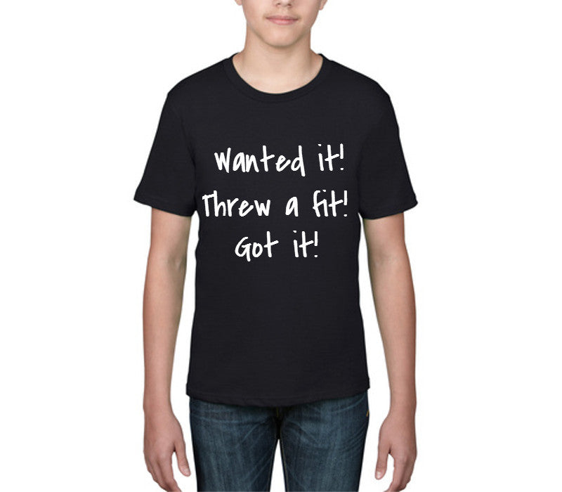 Custom Black Childrens T-Shirt