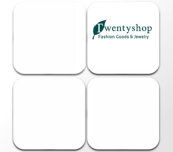 Custom 4pack Square Wooden Coasters