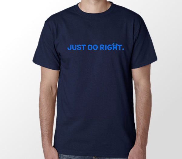 Men's Navy 'Just do right' T-shirt