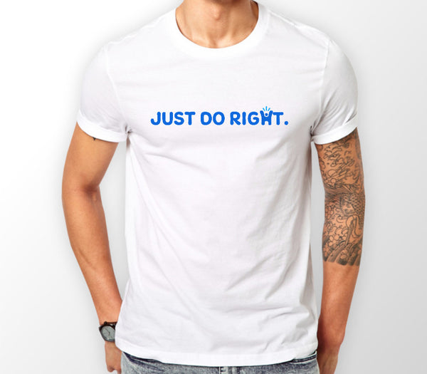Men's White 'Just do right' T-shirt