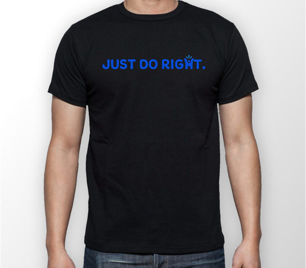 Men's Black 'Just do right' T-shirt