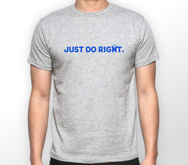Men's Grey 'Just do right' T-shirt