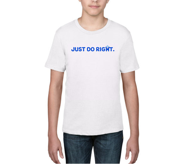 Children's White 'Just do right' T-shirt
