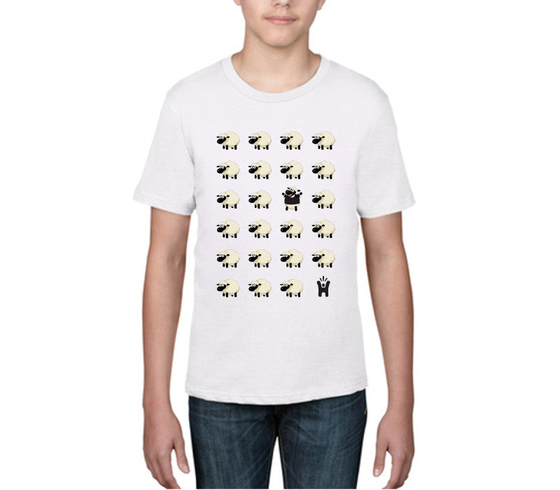 Children's 'Black Sheep' White T-shirt