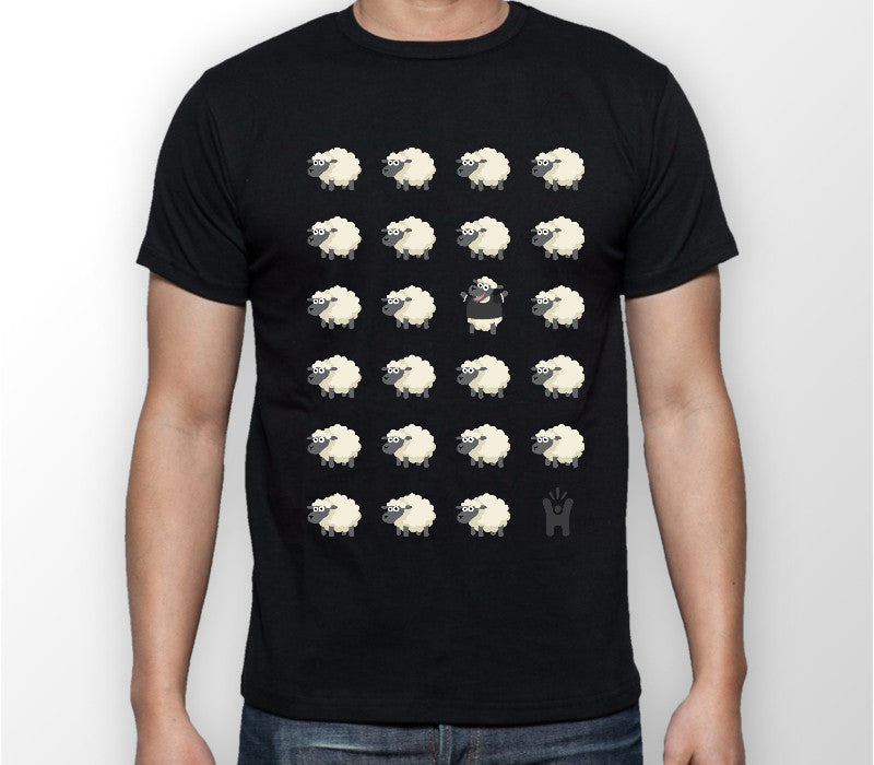 Men's 'Black Sheep' Black T-shirt