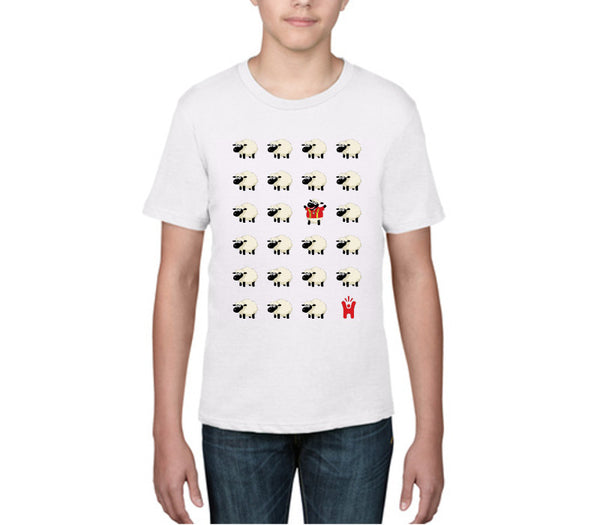 Children's 'Wales Sheep' White T-shirt